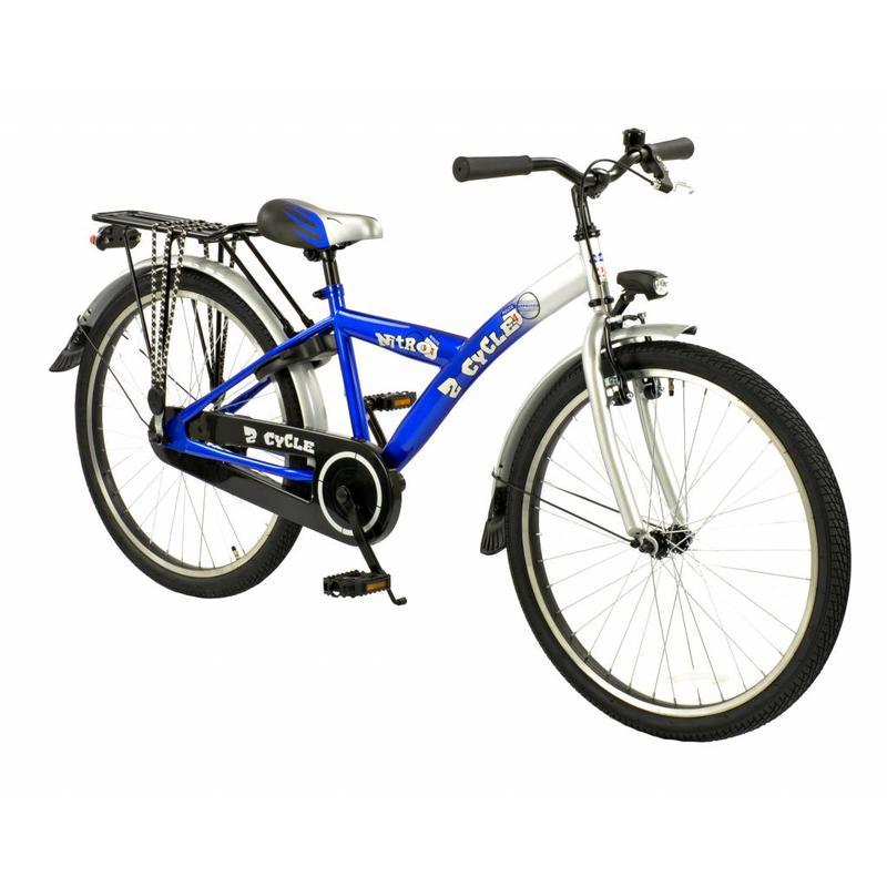 2Cycle Jongensfiets Blauw Nitro 24 inch (2400) -2e