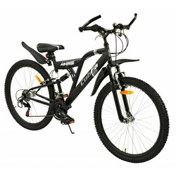 2Cycle Kinderfiets 26 inch Cobra Mat-Zwart 18-speed