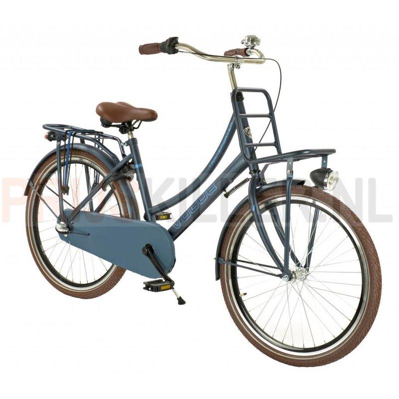 Vogue Transportfiets 24 inch 3-speed petrol-blue met Voordrager (1020465)