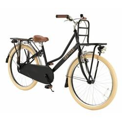 2Cycle Transportfiets 24 inch mat-zwart