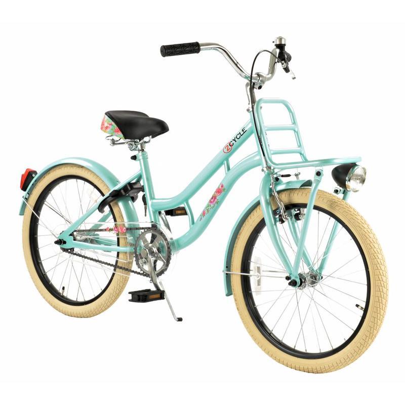 2Cycle Meisjesfiets 20 inch Cruiser Turquoise met Voordrager (2081)