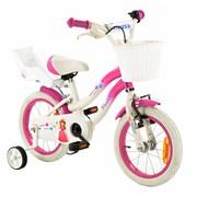 2Cycle Kinderfiets 14 inch Princess met Poppenzitje