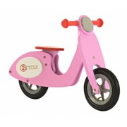 2Cycle Houten Loopfiets Scooter Roze