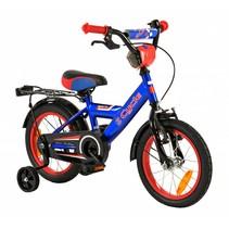 Kinderfiets 14 inch Blauw-Rood