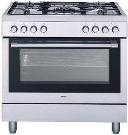 Beko Beko GM15120DXPR 90CM Fornuis, hetelucht oven!