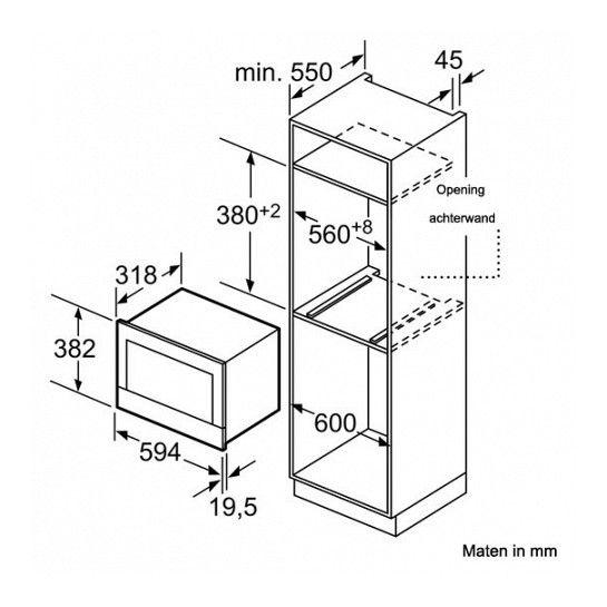 SIEMENS BF634RGS1 inbouw magnetron