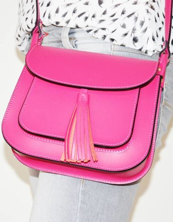Pink Gin Leather bag Nona Tassel