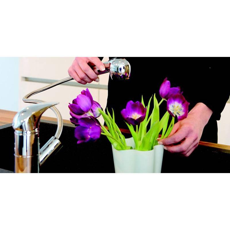 Damixa Space keukenmengkraan 1 greep met uittrekbare handdouche Chroom