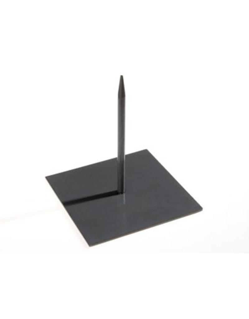 Metalen pin zwart medium