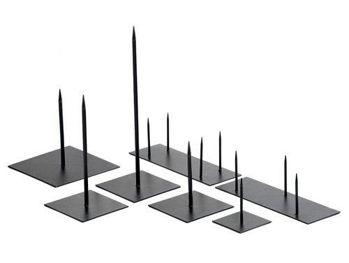 Metalen pin 40cm zwart medium