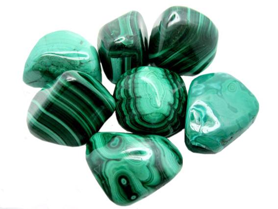 Geliefde malachiet sieraden en losse stenen, webshop - edelsteensieraden #SU69