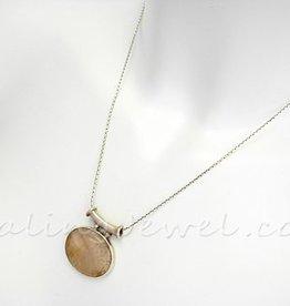 sterling thais zilveren collier, 46cm, voor hangeroog >3 mm