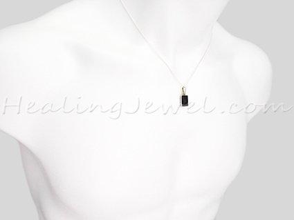 hanger amethist, facetgeslepen , sterling zilver