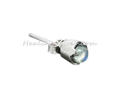 oorstekers amethist, sterling zilver