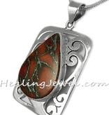 hanger oranje turkoois, sterling zilver