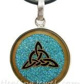 hanger gemalen turkoois, sterling zilver
