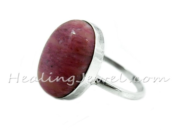 edelsteen ring sterling zilver en thuliet