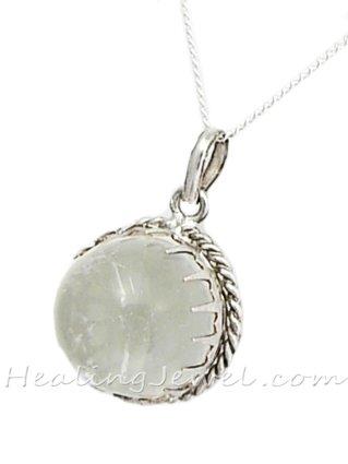 hanger bergkristal, sterling zilver