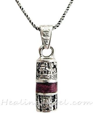 hanger inca symbool, sterling zilver en charoiet