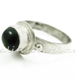 ring sterdiopsied, sterling zilver
