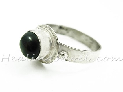 edelsteen ring sterdiopsied, sterling zilver