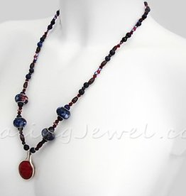 Happy Healthy Me exclusief collier met o.a. lapis lazuli, sterling zilver