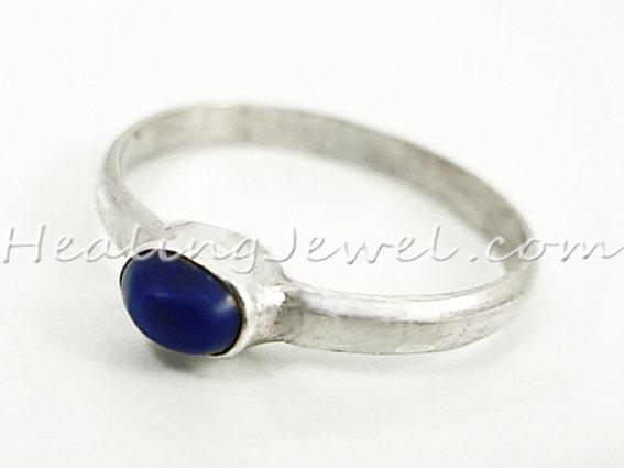 ring lapis lazuli, sterling zilver