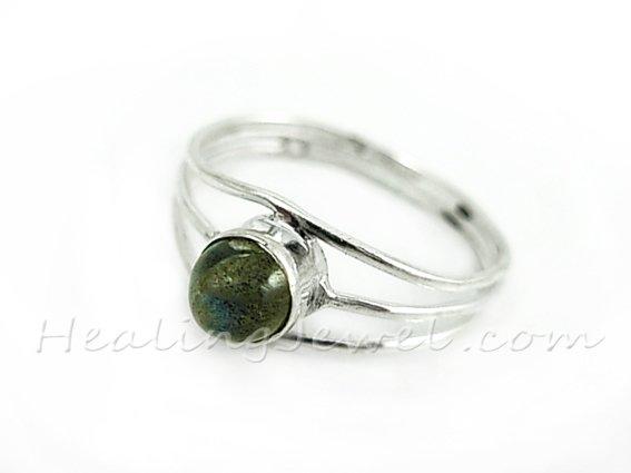 ring labradoriet, sterling zilver, ringmaat 19.5