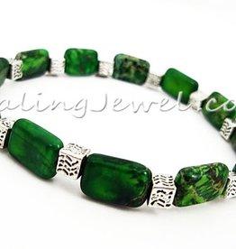 elastische armband groene oceaanjaspis