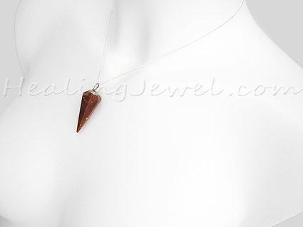 jaspis hanger punt, bonte jaspis, camelbruin, beetje wit