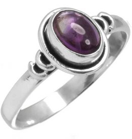 ring amethist, sterling zilver
