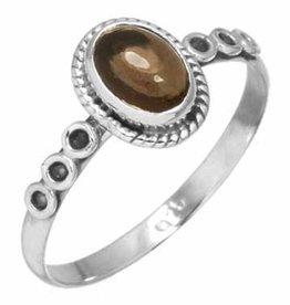 ring rookkwarts, sterling zilver