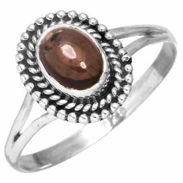 ring rookkwarts, sterling zilver, voordeelactie