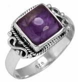 ring amethist, sterling zilver, voordeelactie