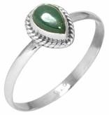 ring malachiet, sterling zilver, voordeelactie