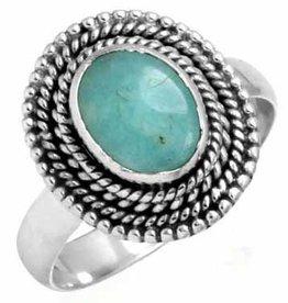 prachtige turkoois ring, sterling zilver