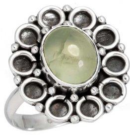 prehniet ring, sterling zilver, groot model