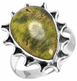 atlantisiet ring, sterling zilver, groot model