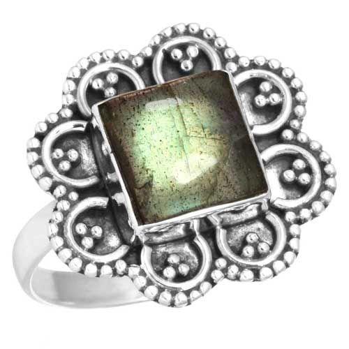labradoriet ring, sterling zilver, outlet EN voordeelactie