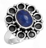 ring lapis lazuli, sterling zilver, groot model, voordeelactie