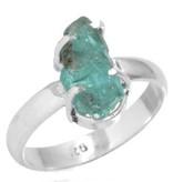 edelsteen ring apatiet, ruw, sterling zilver, voordeelactie