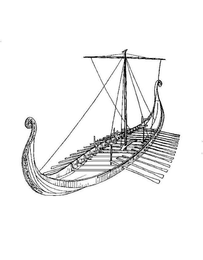 """NVM 10.01.005 """"Osebergschip"""" Vikingschip (8e eeuw)"""