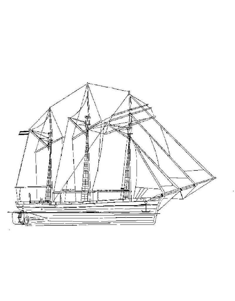 """NVM 10.08.018 topzeilschoener """"Charlotte Rhodes"""" (1904)"""