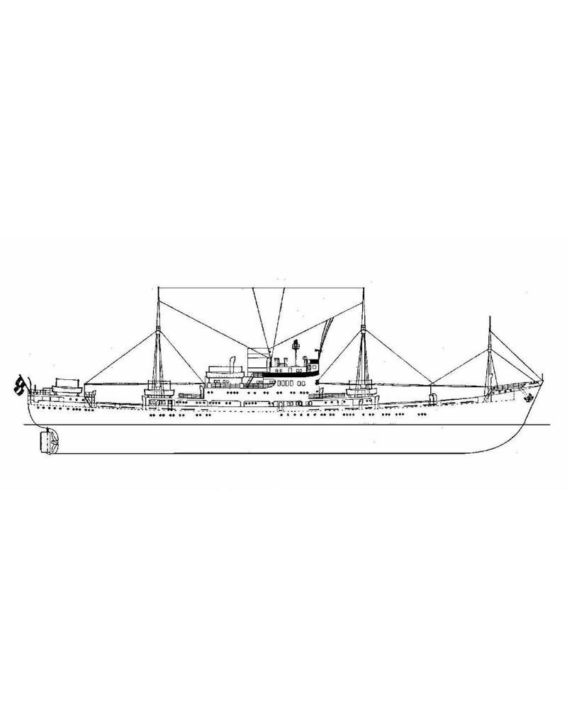 """NVM 10.10.020/A vracht-pass.schip ms """"Willemstad"""" (1950) - KNSM; ex """"Socrates"""" (1938)"""