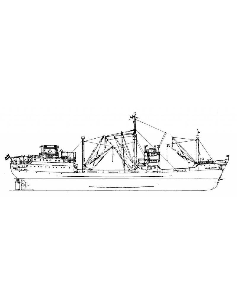 "NVM 10.10.032 vrachtschip ms ""Vrijburgh"" (1935) - Wm.H. MÌ_ller"