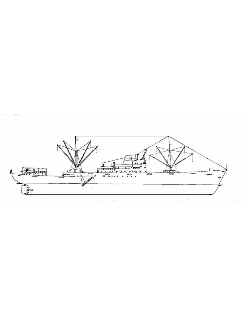 """NVM 10.10.043 koelschip ms """" Horncap"""" (1955) - Hornlinie"""