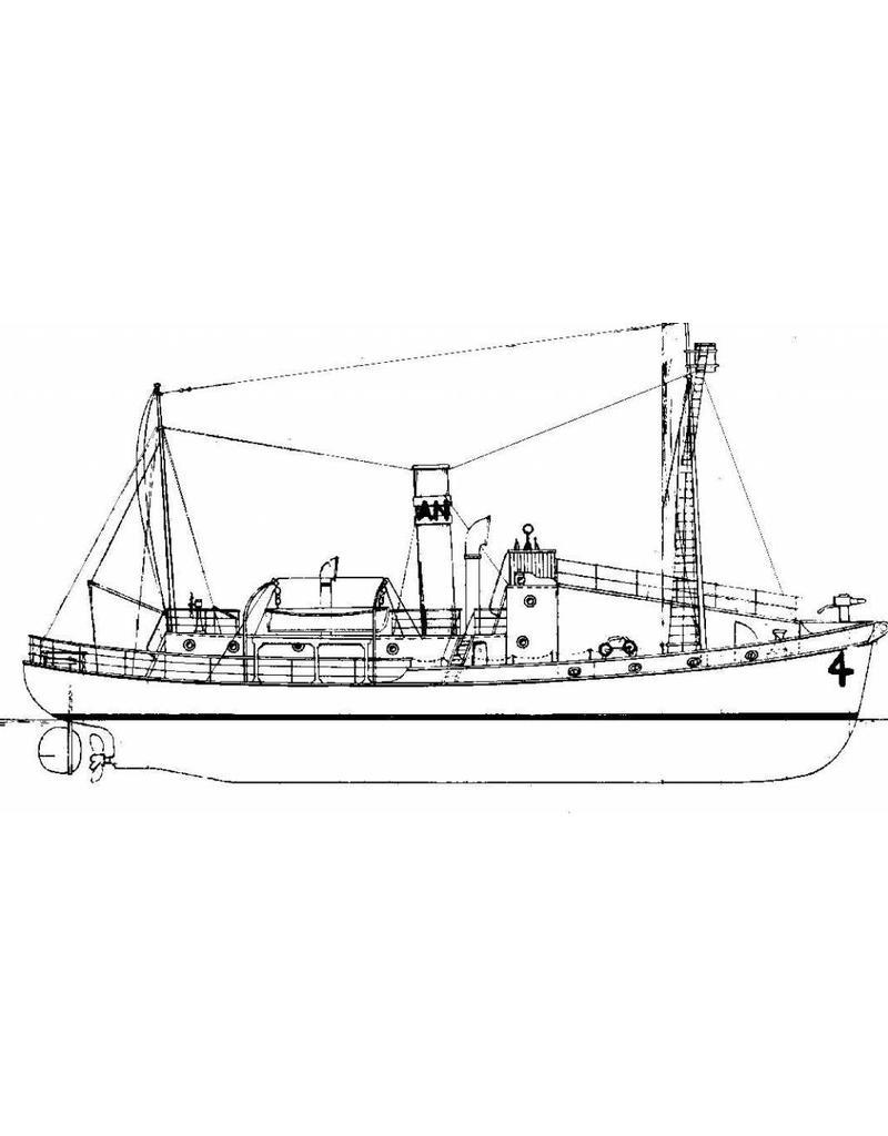 """NVM 10.10.069 walvisvaarder ss """"Antartica"""" met vangboot"""
