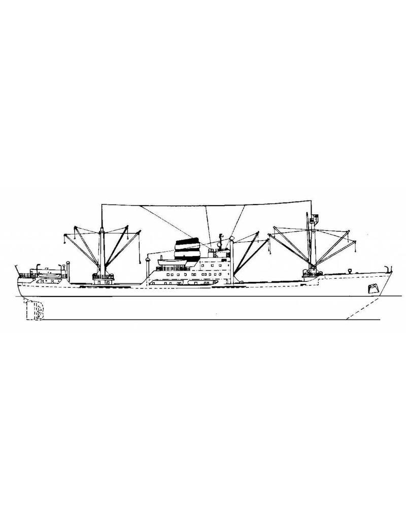 """NVM 10.10.079 vrachtschip ms """"Thora Dan"""" (1956) - J. Lauritzen; """"Helga Dan"""""""
