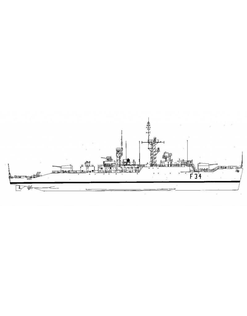 "NVM 10.11.012 antiluchtdoelfregat HMS ""Puma"" F34 (1957) - type 41 ""Leopard""-klasse"