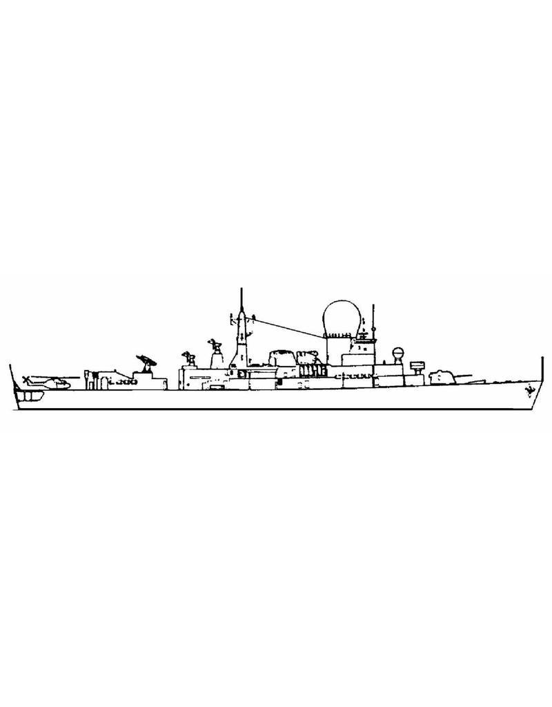 """NVM 10.11.022 HrMs geleidewapenfregatten """"De Ruyter"""" F806 (1976), """"Tromp"""" F801 (1975)"""